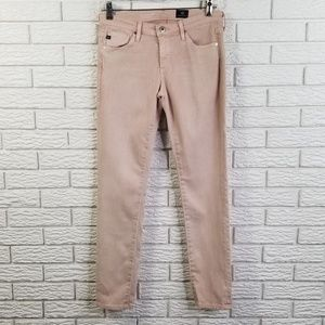 AG The Stevie Skinny Ankle Jeans 27 Peaked Pink
